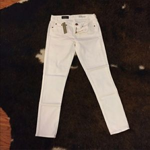 J. Crew white toothpick Skinnies size 25 NWOT